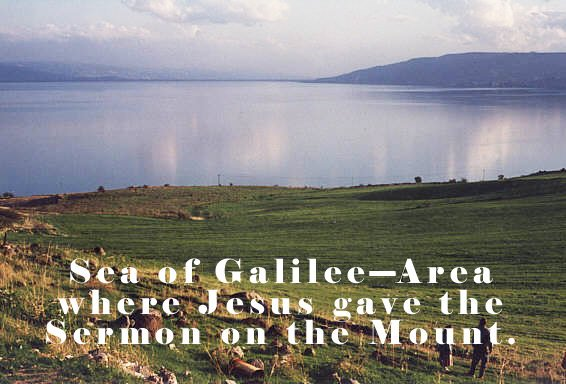 Photo of Sea of Galilee-Area where Jesus gave the Sermon on the Mount.